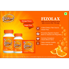 Amar Overseas Fizolax Psyllium (Isabgol) Effervescent Powder 100 gm Tangy Orange Pack of 3